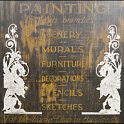 Antique Folk Art Sign - Americana - Hand Painted Artist's Advertising Sign - Naive - Primitive