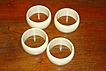 Vintage Ivory Plastic Napkin Rings Set