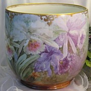 "SOLD Monumental VICTORIAN FRENCH GORGEOUS ""RARE PINK LAVENDER AND PURPLE ORCHIDS""  H"