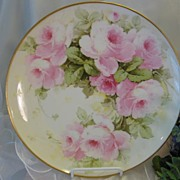 """PINK TEA ROSES PERFECTION"" Gorgeous Antique T&V Limoges France Hand Painted Decorat"