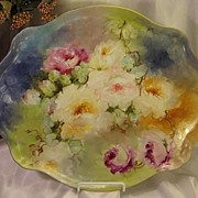 """Hand Painted Masterpiece"" Limoges France ROSES Hand Painted ""One-of-a-Kind"""