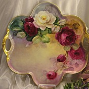 "SOLD ""Absolutely Breathtaking Masterpiece"" Antique Limoges French Rare LARGE SERVING"