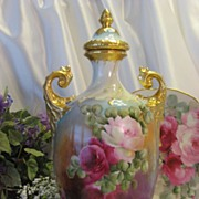 Absolutely Stunning Rare Beauty ~ Gorgeous Victorian Limoges France Covered Urn Vase Potpourri