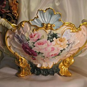 SOLD Truly Magnificent and RARE Limoges France Antique French Roses CENTER BOWL JARDINIERE ~ F