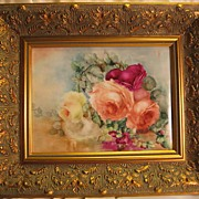 "SOLD ""Breathtaking HAND PAINTED ROSES"" ~ Museum Quality Masterpiece T&V Limoges Fran"