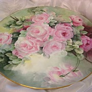 """BREATHTAKING ROSES� Absolutely Magnificent Rare Large 18"" Antique Hand Painted Limo"