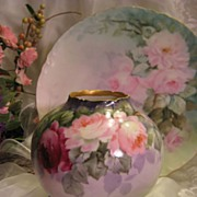 Absolutely Precious Antique Limoges France Hand Painted Petite Jardiniere ~ Master Artist sign