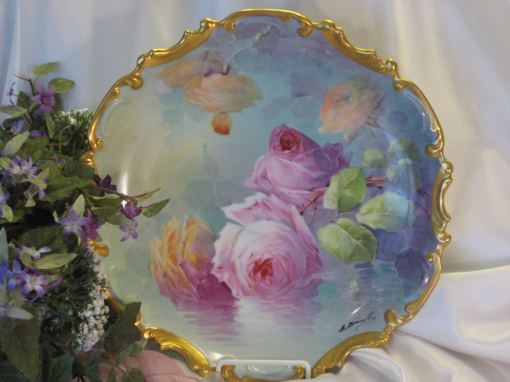 classic antique limoges beauty famous french artist signed