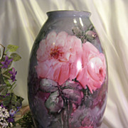 Absolutely Exquisite Antique 13�Hand Painted Vase, H&Co Selb Bavaria, Superb Mastery Artistry