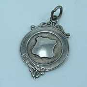 Vintage Sterling Silver Watch Chain Fob, Personal Inscription
