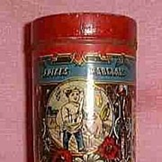 Small Vintage Butcher Shop Lithograph Spice Tin