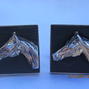 Vintage Fenwick- Sailors Sterling Horse Cufflinks