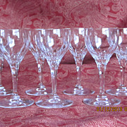 Vintage Crystal  Liquor Cordial Set 7 Pcs