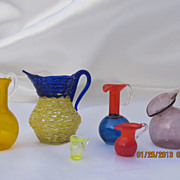 Miniature Blown Glass Pitchers