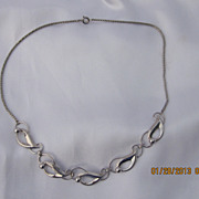 Sterling Leaf & Berry Necklace 16&quot;
