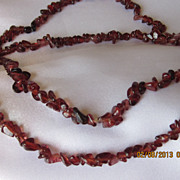 Vintage Small Amber Nuggets Necklace  38""