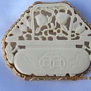 Kenneth Lane Faux Ivory Brooch