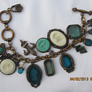 Gorgeous Extasia Intaglio Charm Bracelet