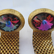 Vintage  Dante Rivoli Gold Tone Cufflinks