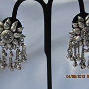 Gorgeous Silver Tone Dangle Earring Set
