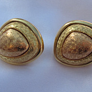 Gorgeous Two Tone Monet Earring Set