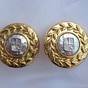 90's Liz Claiborne  Two Tone Earring Set