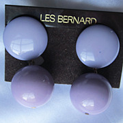 Vintage Signed Les Bernard Earring Set