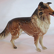 Vintage Collie Dog Figurine