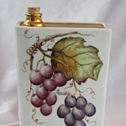 Signed Hand Painted Grapes Limoges Decanter