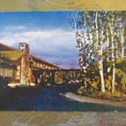 Hawaii Postcard Vintage Volcano House