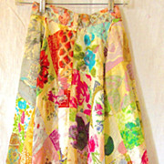Silk Patchwork Handkerchief  Skirt