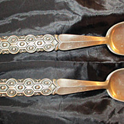 SOLD David Anderson Pewter Salad Set