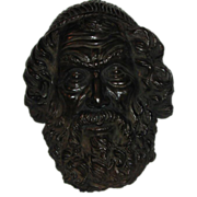 Vintage Bronze Face  Mask of Homer the Greek