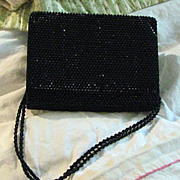 Vintage Black Crystal 1960's Judith Leiber Evening Bag