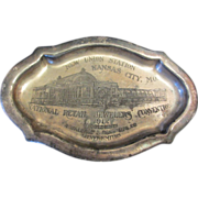Advertising New Union Station Kansas City, Mo. 1912 R. Wallace & Sons Silverplate PinTray