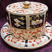 Polychrome Redware Cheese Dome RIM CHIP SOLD AS IS