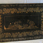 19th Century Large Chinese Export Lacquer Tray