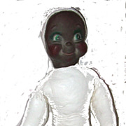 Vintage 1930's-1950's Googly Eyed Black Doll Face and Body