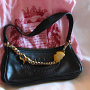 Vintage Juicy Couture Black Leather Evening Bag