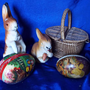 Candy box Papier Mache Rabbits