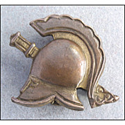 Vintage Knight Helmet Armor Brooch Pin