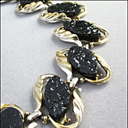 Unusual Vintage Black Coal-Look Bracelet