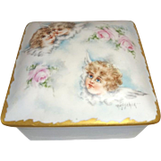 Stunning - Limoges - France - Jewelry Box - Casket - Trinket Jar - Hand Painted - Portrait - C