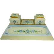 Fabulous - RARE - T&V Limoges - FRANCE - Desk Set - Ink Wells - Hand Painted - Romantic ...