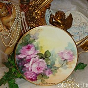 "Fantastic - D&C - Limoges - FRANCE - 9"" Plate - Hand Painted - Romantic Victorian Bouquet"