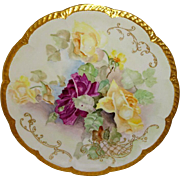 Exquisite - Haviland - Limoges -France - Charger - Plate - Tray - Hand Painted - Romantic Vict
