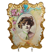 T&V - Limoges - France - Picture - Photo - Porcelain - Frame - Hand Painted - Romantic - Victo