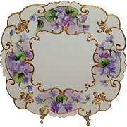 F*A*B*U*L*O*U*S - GDA - Limoges - France - Square Plate - Tray - Hand Painted - Romantic - Vic