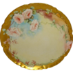 BEAUTIFUL Haviland Limoges Plate with Hand Painted Pink Roses
