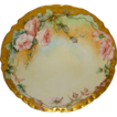 Lovely Haviland Limoges Plate with Hand Painted Pink Roses
